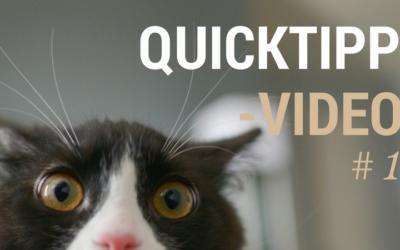 QuickTipp Video 1 Habe ich Einfluss, bin ich betroffen?